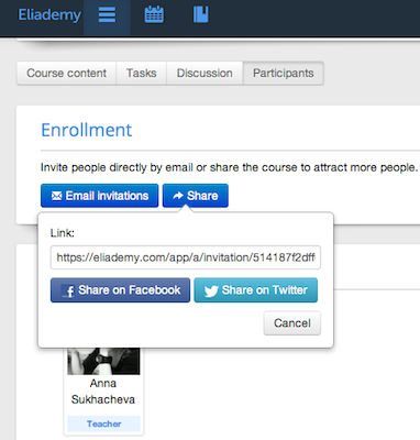 eliademy-invites